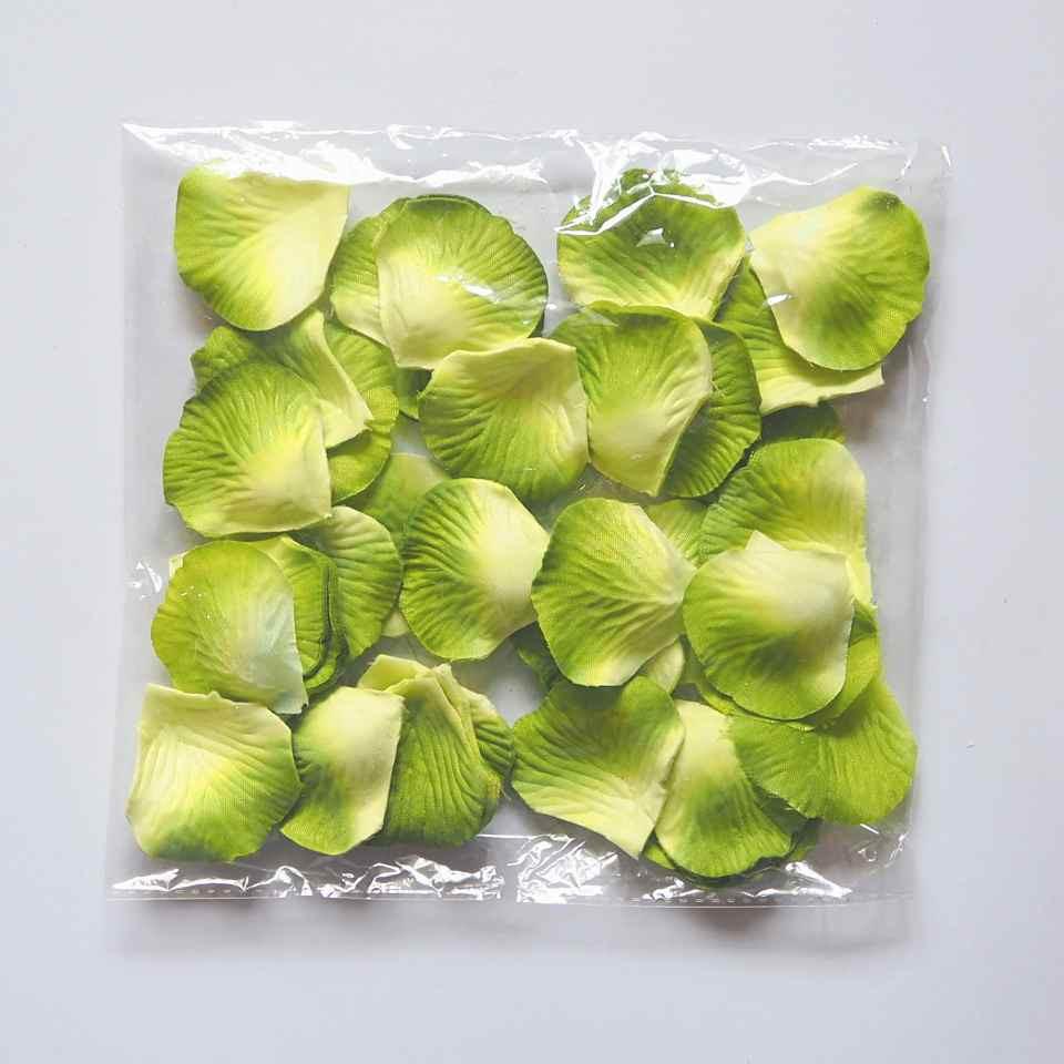 Лепестки роз искусственные (желто-зеленые) 600 шт