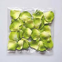 Лепестки роз искусственные (желто-зеленые) 600 шт, фото 1