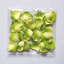 Лепестки роз искусственные SoFun желто-зеленые 600 шт