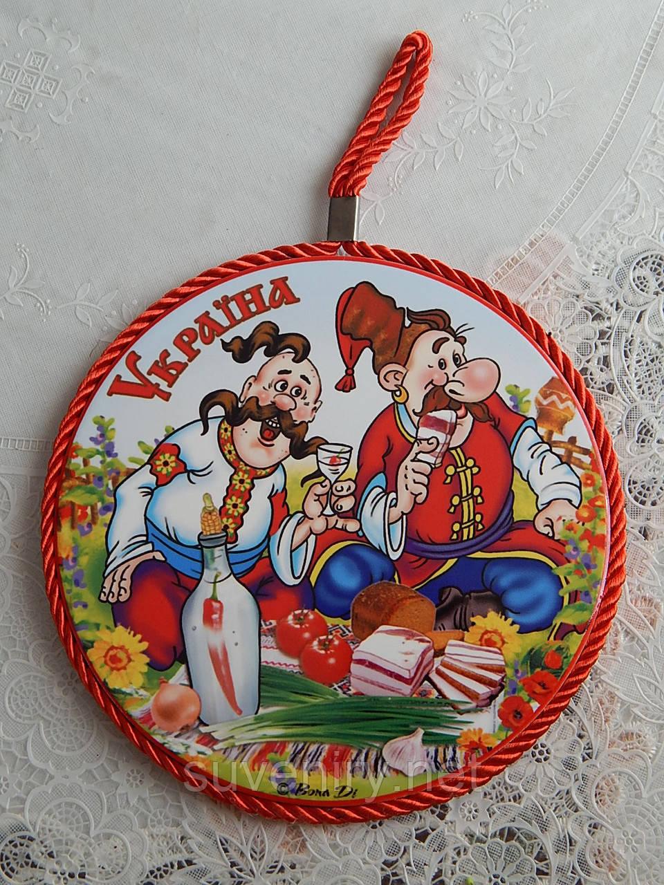 2в1 Подставка Украина под гарячее и сувенир на стену