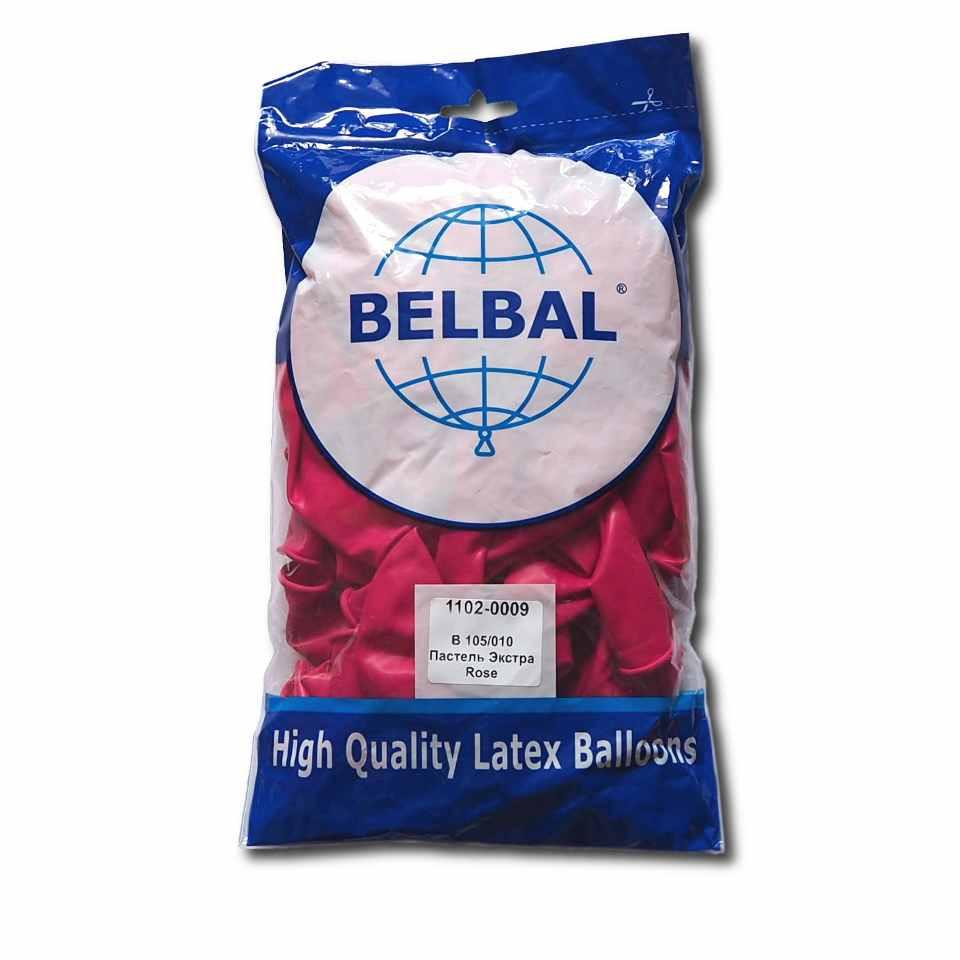 """Малиновый 12""""(30 см) пастель  Belbal (упаковка 50 шт)"""