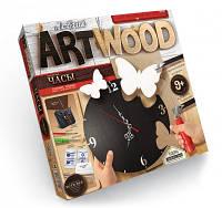 Набор для творчества ARTWOOD Бабочки-настенные часы выпилинные лобзиком, Danko Toys, LBZ-01-03