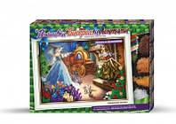 Набор для творчества Вышивка бисером и лентами Золушка, Danko Toys, БВ-01Р-07
