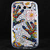 """Чехол-накладка для Samsung Galaxy Grand i9082, i9080, """"Hands with flowers"""", со стразами, силиконовый"""
