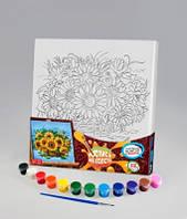 Набор для творчества Роспись на холсте 31*31см. с.2 Букет , Danko Toys, РХ-02-08|в упаковке-10штук, разные|