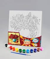 Набор для творчества Роспись на холсте 31*31см. с.2 Розы , Danko Toys, РХ-02-09 в упаковке-10штук, разные 
