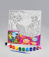 Набор для творчества Роспись на холсте 31*31см. с.3 Подружки , Danko Toys, РХ-03-01|в упаковке-10штук, разные|