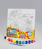 Набор для творчества Роспись на холсте 31*31см. с.3 На речке , Danko Toys, РХ-03-03|в упаковке-10штук, разные|