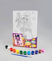 Набор для творчества Роспись на холсте 21*31см. с.1 Фокусница , Danko Toys, РХ-01-05 в упаковке-12штук, разные 