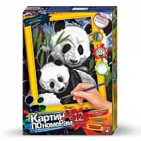 Набор для творчества Картина по номерам Панды, Danko Toys, KN-01-01