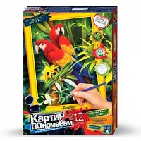 Набор для творчества Картина по номерам Попугаи , Danko Toys, KN-01-02