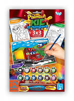 Набор для творчества Раскраска по номерам Painter kids Машина, Danko Toys, РKN-01-09