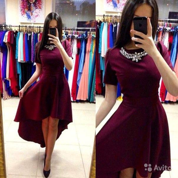 Платье асимметрия шлейф