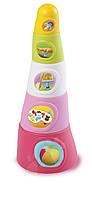 Smoby Пирамидка веселая башенка розовая Cotoons Happy Tower Pink