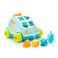 Smoby Машинка сортер с фигурками голубая Auto malices blue