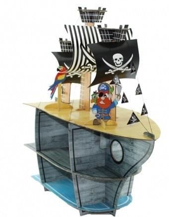 """Стойка для маффинов и десертов """"Пиратский корабль""""(код 02317)"""