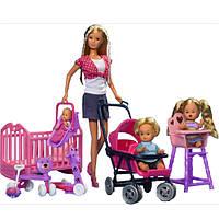Simba Steffi Love Игровой набор Штеффи с детьми Baby World pley set 5736350