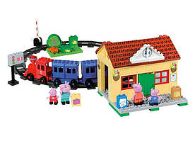 Simba Конструктор ж/д станция свинка Пеппа Peppa Pig Train Station Building Sets 57079