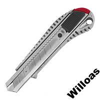 Нож 18мм в металлическом корпусе HT-0504