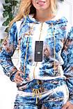 Жіночий велюровий турецький спортивний костюм EZE купити розм 50,52,54,56, фото 3