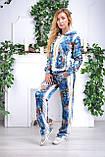 Жіночий велюровий турецький спортивний костюм EZE купити розм 50,52,54,56, фото 2