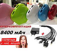 Power Bank Lepow 8400 mAh 2 USB. Суперкомплектация. Реальный объем.
