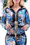 Велюровый женский турецкий спортивный костюм EZE купить разм 46,48,50, фото 2