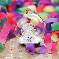 Праздничный шарик с подсветкой - зимний микромир