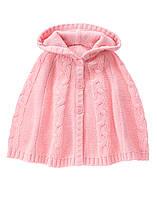 Детское вязаное пончо для девочки  18-24 месяца