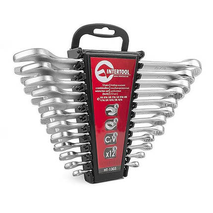 Набор ключей комбинированных 12 ед. дюймовых 1/4''-15/16'' INTERTOOL HT-1303, фото 2