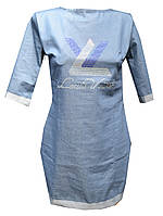 Платье женское джинс LV