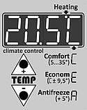 Вбудований терморегулятор 2в1 для інфрачервоної панелі опалення КРІП, фото 2