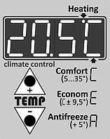 Терморегулятор с программатором встроенный 3в1 для инфракрасной панели отопления УКРОП(Плата с термодатчиками), фото 1