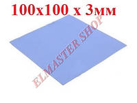Теплопроводящая прокладка (термопрокладка) силиконовая  3мм