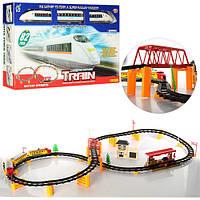 ЖД 2914B-1-2 (12шт) локомотив 18см,свет, вагоны,82детали, 2 вида,на бат-ке,в кор-ке, 59,5-31,5-7,5см