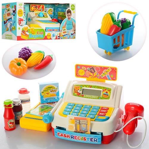 Кассовый аппарат 35563A сканер,св,калькулятор,продукт,тележка,на бат-ке,в кор-ке,43-19-18,5см