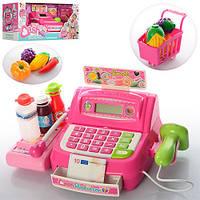 Кассовый аппарат 35563B (12шт) сканер,св,калькулятор,продукт,тележка,на бат-ке,в кор-ке,43-19-18,5см