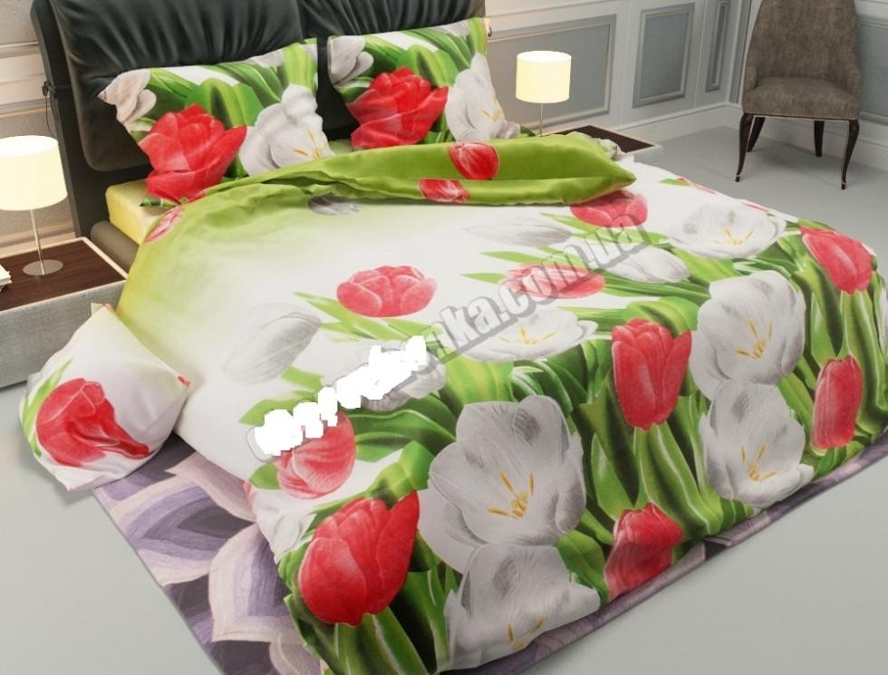 Комплект постельного белья с двумя пододеяльниками
