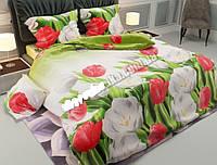 Полуторное постельное бельё Тюльпаны