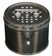 Коробка стерилизационная с нержавеющей стали . Диаметр 125 мм высота 80 мм