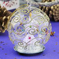 Сияющий шар с новогодним деревом - блестящая идея!