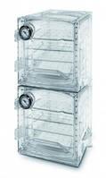LLG-Вакуумный шкаф эксикатор, поликарбонат, прямоугольной формы, ''Heavy Duty'' Тип VDC-41U* Размерыкамеры 355 x 374 x 445 мм Габаритныеразмеры 420 x