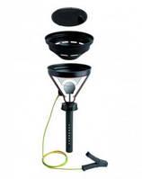 Безопасные воронки с шаровым клапаном, электропроводящие, черные, PE-HD Резьба Диаметр 180 мм Описание Заменяемое сито