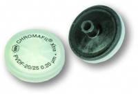Фильтры на шприцы Тип PVDF-45/25 Размерпор 0,45 мкм Диаметрмембраны 25 мм Окраскаверхнейчасти с меткой Окрасканижнейчасти