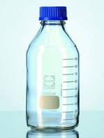 Бутылка лабораторная, стекло DURAN®, с винтовой крышкой ПП и идентификационным кодом, 1000 мл, резьба 45 GL, автоклавируемые