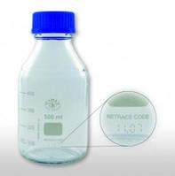 Бутылки лабораторные 2000 мл с крышкой, c трассировочным кодом, боросиликатное стекло 3.3, резьба GL 45, уп. 10 шт.