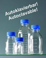 Широкогорлые бутылки [EN]: ***after clearance sale no longer available th.LLG Laboratory bottles 100ml Soda-Lime