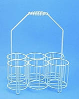 Корзина для бутылок. Из проволоки, покрытой полиэтиленом. Длябутылей 6 x 2000 мл Внутреннийдиаметр 130 мм Высота 110 мм