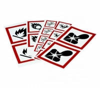 Предупреждающие знаки  (СГС) [EN]: GHS Symbol ''Explosive'' PIC 1801-70*70-B7541-CRD 70x70 mm, card, pack of 6