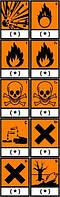 Символы опасности Тип N, опасно для окружающей среды Ширина 18 мм Высота 26 мм